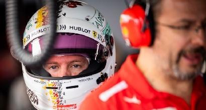 """Ferrari, Vettel resta positivo: """"Sono contento"""""""