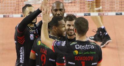Volley, tutto facile per la Lube: Siena cade 3-1