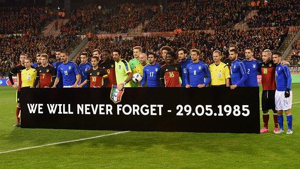 Heysel, un minuto d'applausi in Belgio-Italia