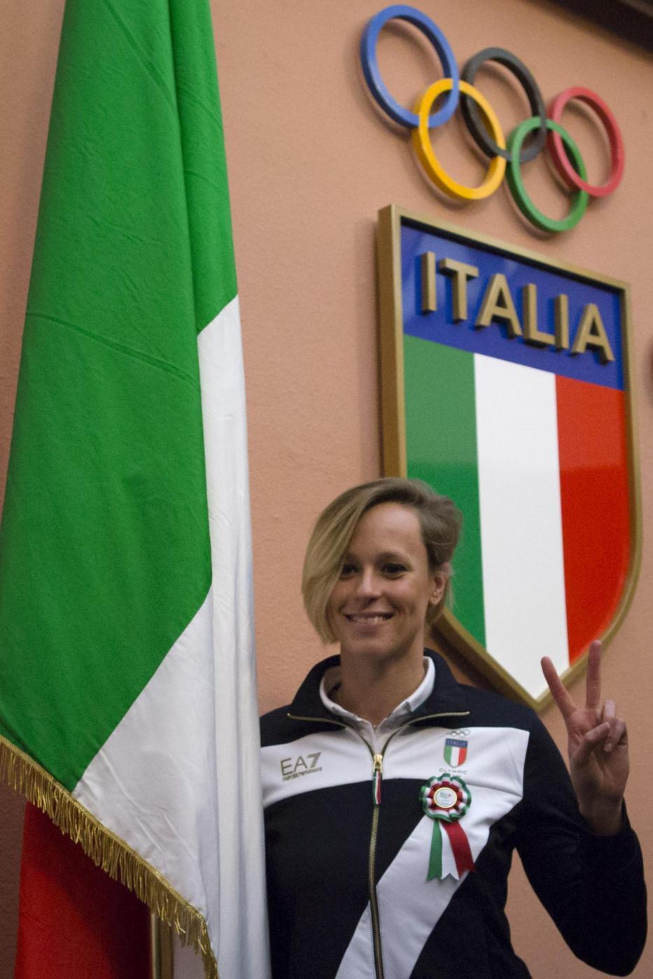 Federica Pellegrini portabandiera italiana a Rio 2016
