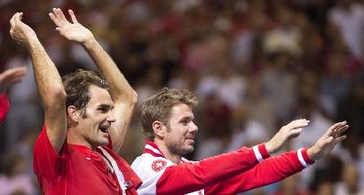 Roger Federer e Stanislas Wawrinka, foto IPP