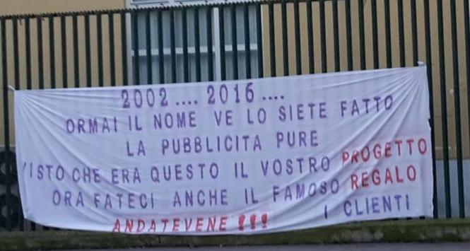 Fiorentina, striscione contro i Della Valle: