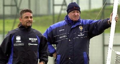 """Baggio festeggia Mazzone: """"Ti sarò sempre grato"""""""