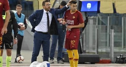 """Roma, Di Francesco: """"Un punto di partenza importante per il derby"""""""