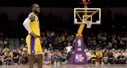Preseason Nba: Lakers, esordio amaro per LeBron James
