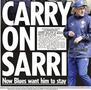 """Chelsea, tentativo in extremis per Sarri: """"Rimani"""""""