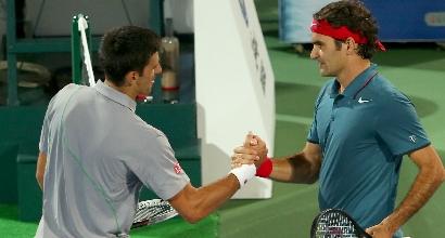 Federer e Djokovic - Afp