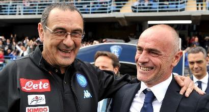 """Napoli, Sarri: """"Prendiamo i tre punti e andiamo a casa"""""""