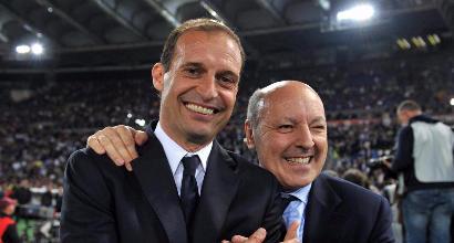 Beppe Marotta e Massimiliano Allegri (LaPresse)