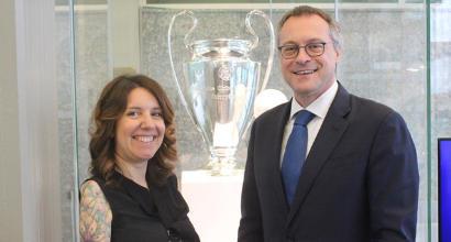 In Assolombarda i due trofei più ambiti del calcio: la Champions League e la Coppa del Mondo
