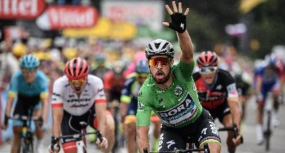Tour de France, Sagan fa tris: Kristoff battuto allo sprint