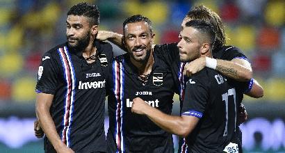 Serie A, Frosinone-Sampdoria 0-5: Quagliarella e Defrel lanciano Giampaolo