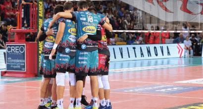 Volley: Perugia e Modena in volo, Civitanova batte Trento al tie-break<br />