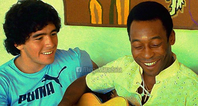 Maradona fa gli auguri a Pelé: