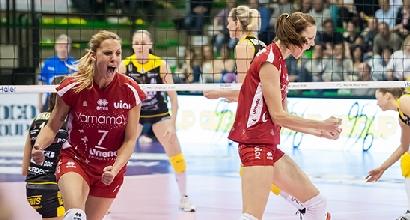 Volley, playoff A1 femminile: Busto batte Conegliano, ora è in finale