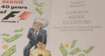 F1, festa a sorpresa per Ecclestone: tutti con la maschera di Bernie