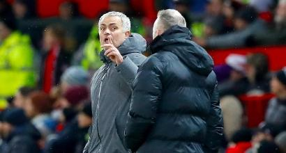 Mourinho e Guardiola, foto Lapresse