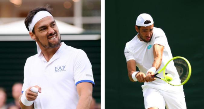 Wimbledon: ok Fognini e Berrettini
