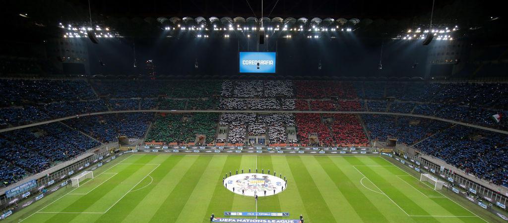 Italia-Portogallo è uno spettacolo già dagli spalti con una scenografia azzurra e tricolore per accogliere la Nazionale, che gioca per la 58esima volta a Milano