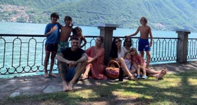 Inter, Icardi e Wanda si rilassano nella casa al lago