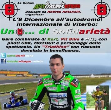 Gare di kart, pit bike e MTB per ricordare Andrea Antonelli