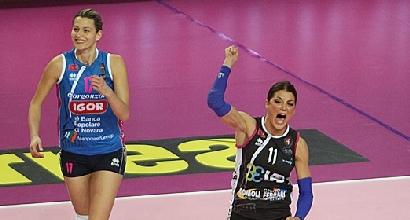 Volley, A1 femminile: Novara campione d'inverno, crolla Modena