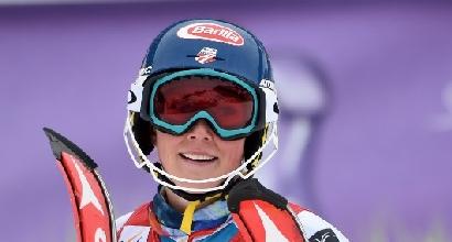 Sci, slalom Meribel: Shiffrin festeggia vittoria e 'Coppetta'