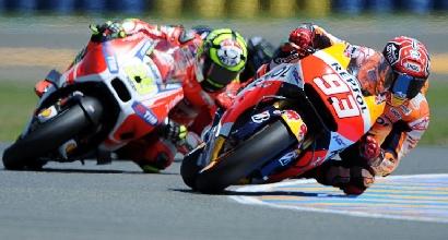 Iannone e Marquez (Afp)
