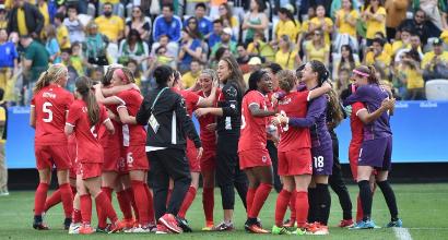 Rio 2016, calcio femminile: Brasile sconfitto dal Canada, niente bronzo. Oro alla Germania