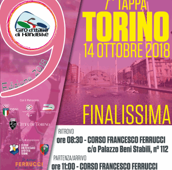 Giro d'Italia Handbike, domenica la finale a Torino