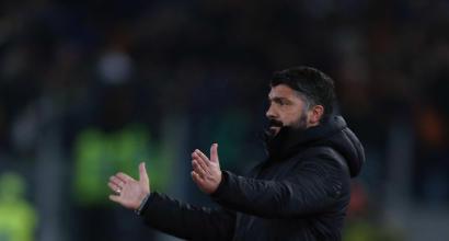 """Gattuso:""""Ai punti meritava la Roma"""""""
