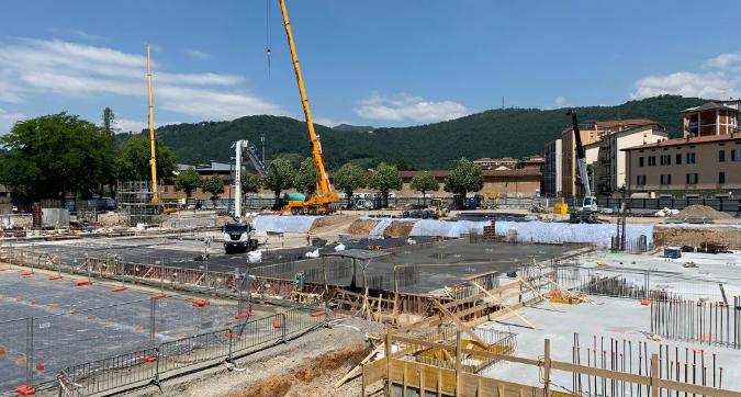 Lo stadio di Bergamo è un cantiere: iniziata la costruzione a tempo record