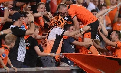 Besart Berisha esulta dopo il gol, foto Ansa