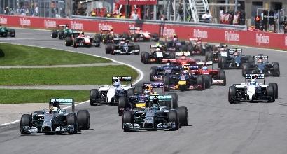 La partenza del GP del Canada (Afp)