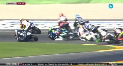 Moto2, GP Valencia: spaventoso incidente per Morbidelli al via