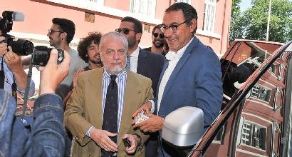 Napoli, Sarri-De Laurentiis: incontro positivo, filtra ottimismo