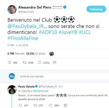 "Juve, Dybala ""omaggia"" Sivori"