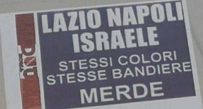 """Roma, volantini antisemiti in città: """"Lazio, Napoli, Israele. Stessi colori, stesse bandiere. Mer..."""""""