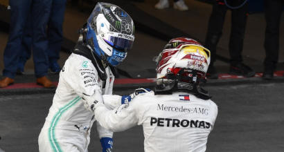 Bottas-Hamilton, AFP