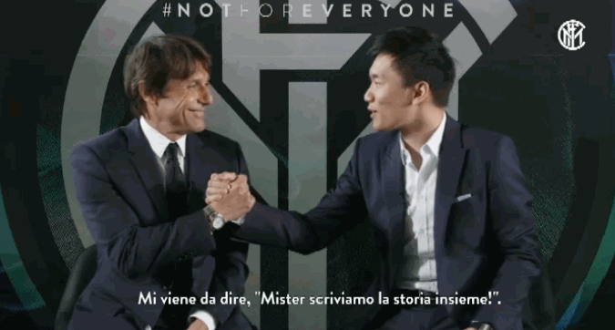 """Inter, Steven Zhang a Conte: """"Mister, scriviamo la storia insieme"""""""