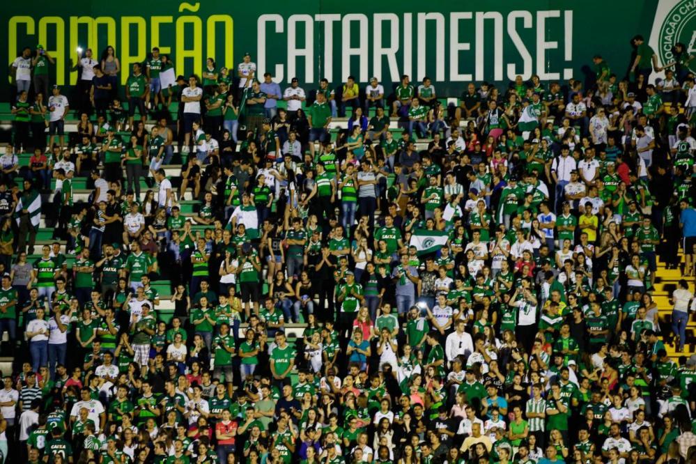 Chapecoense: l'omaggio dei tifosi