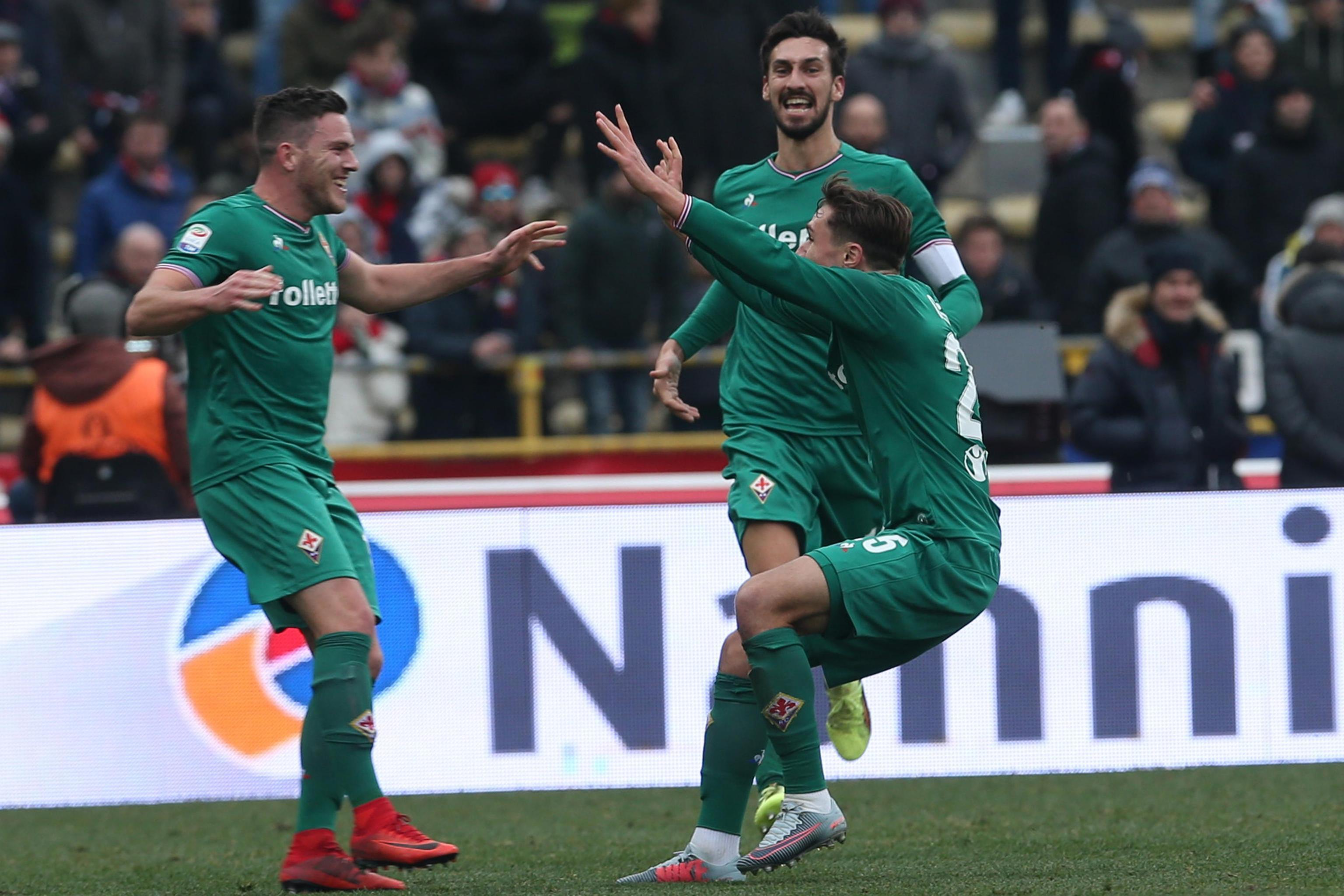 Colpo in trasferta per la Fiorentina, che passa 2-1 al Dall'Ara e torna al successo dopo due sconfitte consecutive. La squadra di Pioli sblocca la gara grazie all'autogol di Mirante sugli sviluppi di un calcio d'angolo di Veretout (41'). Il momentaneo pareggio, soltanto tre minuti più tardi, arriva nuovamente direttamente da un corner e stavolta porta la firma di Pulgar (44'). Nella ripresa il decisivo gol di Chiesa al 71'.<br /><br />