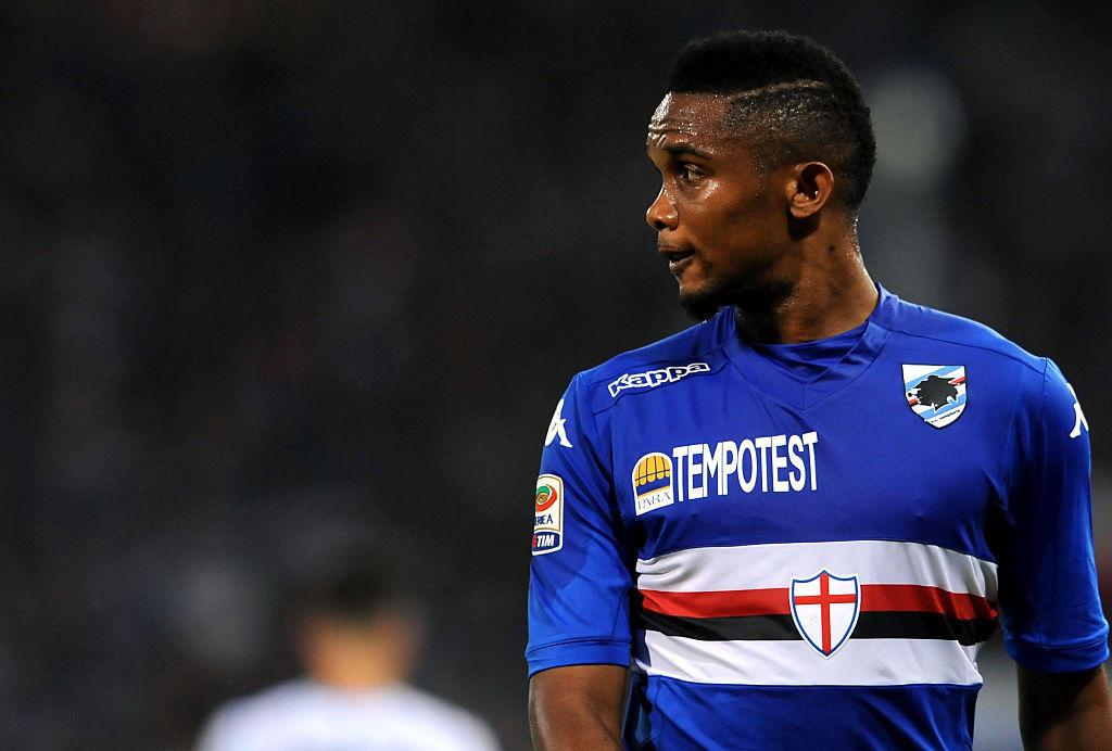 2015: la Sampdoria prova il colpo Eto'o dall'Everton ma il camerunense metterà insieme solo 2 gol in 18 presenze