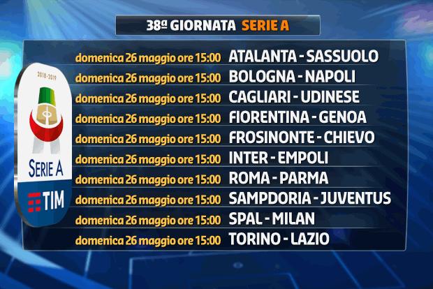 Calendario Napoli E Juve.Serie A Gli Anticipi E I Posticipi Fino Alla 37 Ma Giornata