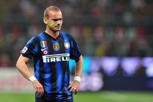 Sneijder e il laser