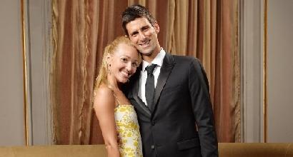 Djokovic e Jelena Ristic, foto Afp