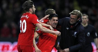 Premier: il Liverpool riparte con Emre Can, Watford al tappeto