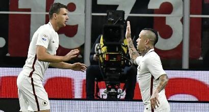 Roma, Perotti e Nainggolan in gruppo: recuperano per la Juve