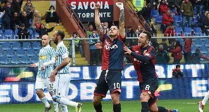 Serie A, Genoa-Spal 1-1: caos Var, a Lapadula risponde Lazzari
