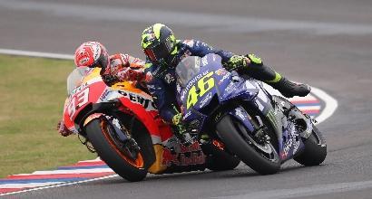 Marquez-Rossi, lo scontro continua: faccia a faccia poco amichevole